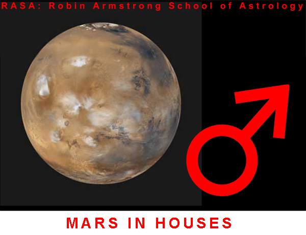 Mars in Houses - School of Astrology